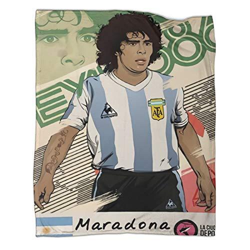 Xaviera Doherty Maradona's Rebellious Ball King's Legend Ends Limited (25), leichte Reisedecke, 150 x 200 cm, weiche und bequeme Bettdecke, Kinderbettwäsche