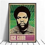 Eryan Póster de la canción del cubo de hielo NWA Music Singer Hip Hop Rap Music Band Star Poster Wall Art Painting Room Decoración del hogar Lienzo impresión -50 x 70 cm Sin marco
