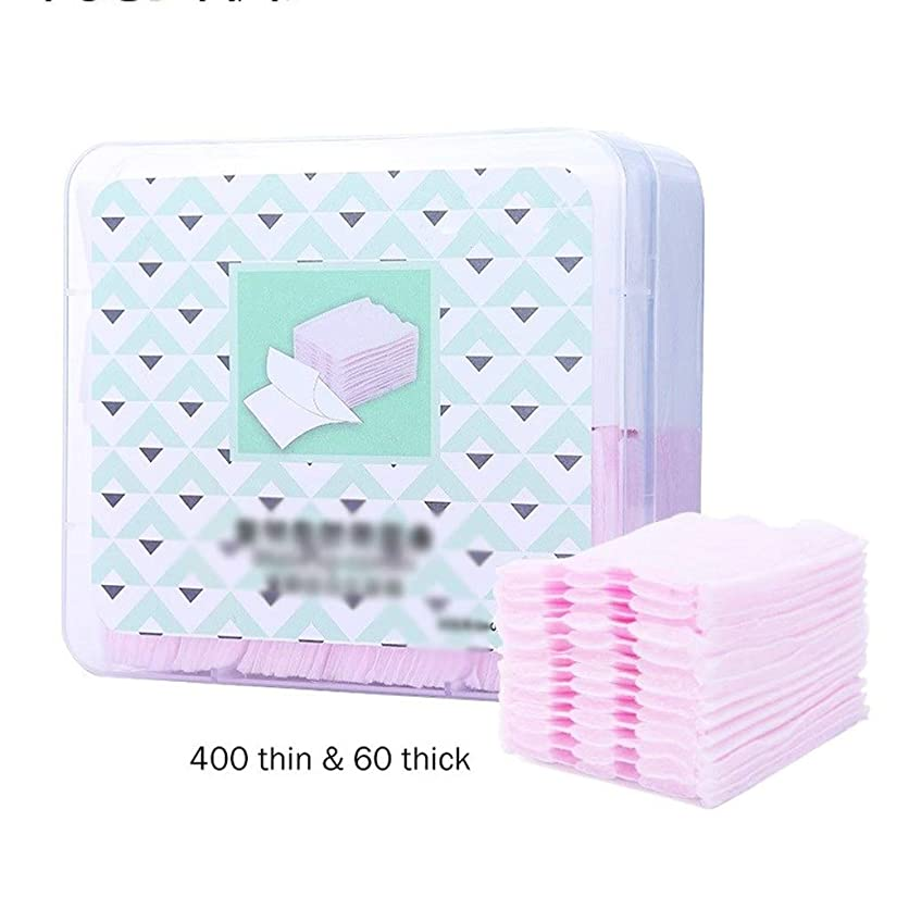 専門知識鉛筆たらいクレンジングシート 460ピース有機化粧コットンパッドネイル化粧品コットンワイプフェイスフェイシャルティッシュリムーバーワイプネイルナプキン化粧パッド (Color : Pink+White, サイズ : 5.2*5.9cm)
