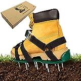 Exnemel Zapatos de aireador de césped, Sandalias de aireador de césped escarificador de césped con 4 Correas de Nailon Ajustables, tamaño Universal (fibbie in Metallo)