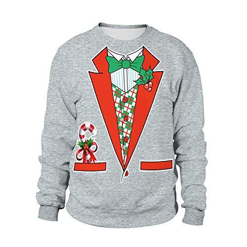 Binglin 2018 Winter Kerstman Print Truien Paar Kerst Tops Jas Winter Dames Warm Korte Hoodies Sweatshrits