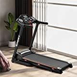VEAREAR Electric Treadmill Foldable 17' Wide Running Machine 9 MPH Max Speed 3 Levels Manual Incline 6 Shock Absorber Easy Assembly Treadmill with Large Display & Cup Holder 240LBS