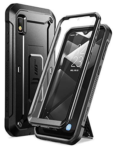 SupCase Unicorn Beetle Pro Series Designed for Samsung Galaxy A10e Case(2019 Release), Full-Body Rugged Holster & Kickstand Case with Built-in Screen Protector (Black)