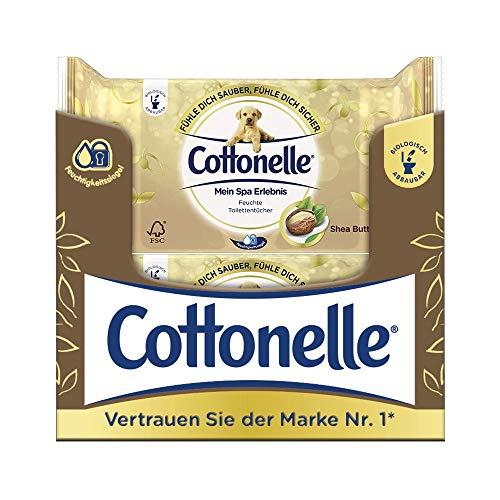 Cottonelle vochtig toiletpapier Mijn SPA Shea Butter, 12 x 44 doekjes