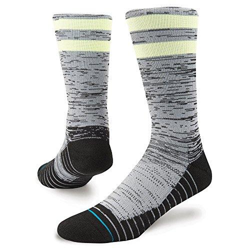 Stance Socks Franchise Athletic Chaussettes en Noir Avec Advanced Moisture Management/Anatomical Amorti/Fermeture Transparente Toe Feel 360 Technology - L