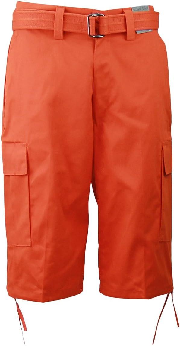 Regal Wear Mens Solid Shorts with Cargo Atlanta Super sale Mall Belt