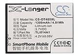 KML Battery for Alcatel CAB1400002C1 CAB31C00002C1 TLi014A1,fits Alcatel One Touch 5020X,OT-5020X,OT-5020T,OT-4010 OT-4010D OT-4012 One Touch Fire OT-4030 OT4030D One Touch S Pop Dual OT-785 OT-4012A