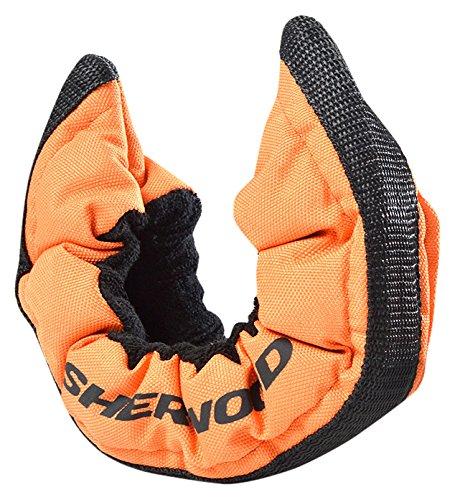 SHER-WOOD - Senior Pro Eishockey elastische Kufenstrümpfe für Eishockey- & Schlittschuhe, 2 Stück, orange