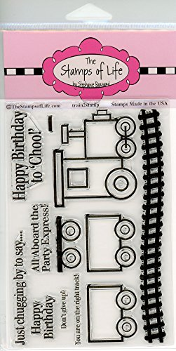 Choo-Choo Train Kid Stamps for Card-Making and Scrapbooking Supplies by The Stamps of Life - Train2Stamp Sentiments