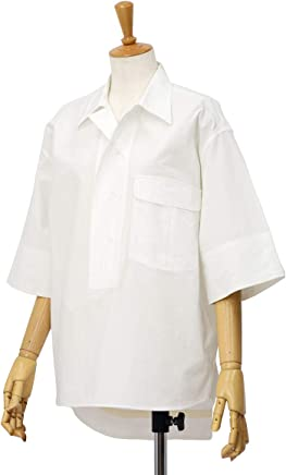 [Bagutta【バグッタ】]半袖ビッグシルエットシャツ POLOP 09103 010 コットン ホワイト