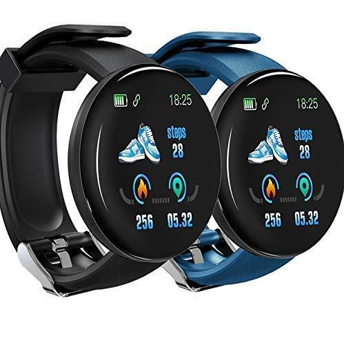 IAMSPOFIT Smartwatch, Reloj Inteligente Android para Hombres y Mujeres, Pulsera Actividad para Deporte, Resistente al Agua, Reloj de Fitness con podómetro y cronómetros Incluido Pulcera de Color Azul