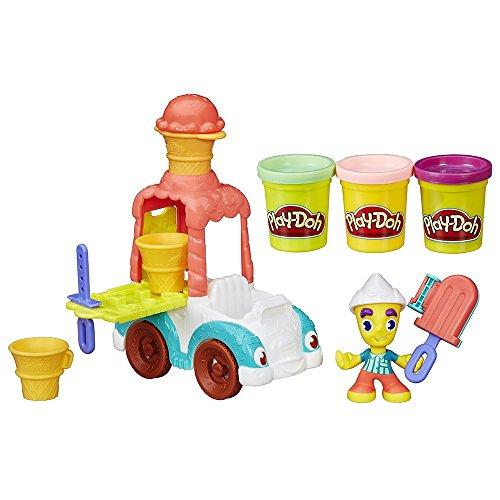 Ayuda al hombre de los helados a entregar helados imaginarios alrededor de Play-Doh Town A la figura le puedes hacer peinados No olvides decorar tus helados para hacerlos más divertidos y coloridos