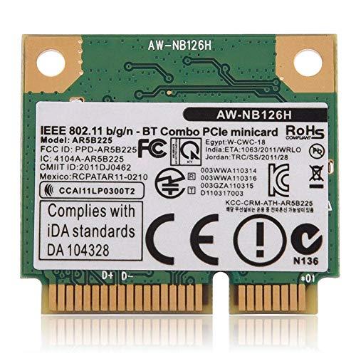 Wireless Karte, 300 Mbps V4.0 2.4G WiFi 2 in 1 Wireless Karte für PC/Laptop Mini PCI-E Slot Machen Sie Gaming und HD Video fließend