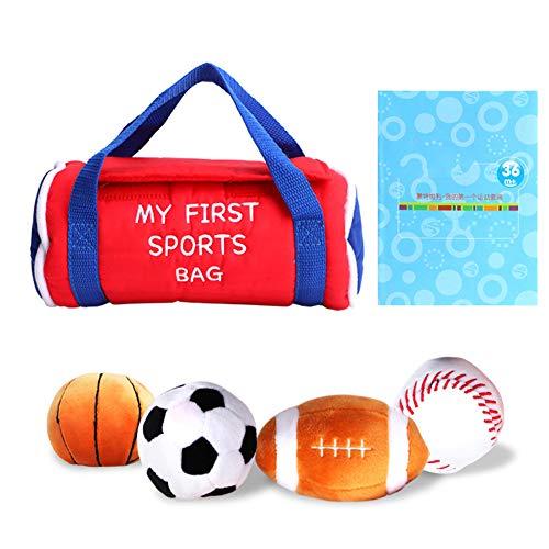 Baby Sports Bag Conjuntos de juego de pelota para niños pequeños con baloncesto Béisbol Fútbol Fútbol Pelota de felpa Regalo de juguete para niños