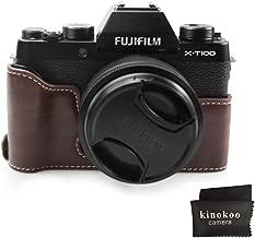 Fuji X-T100 Case  kinokoo Bottom Case for FUJIFILM X-T100 Camera  Half Cover Hand Grip  coffee