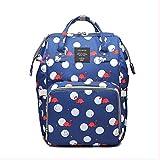 Mommy Bag Multifuncional De Gran Capacidad Bolsa para Madre Y Bebé Botella De Leche Mochila Mochila Bolsa Prenatal Flamingo Royal Blue