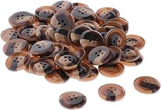 AI LI WEI 50 botões de resina, 4 furos, botões de costura para artesanato DIY - 25 mm