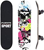 NACATIN Skateboard Deck, Adults Skateboard,Complete Board with ABEC-9 Bearing 8-Layer 95A Hard Maple Deck,31 x 8 x 4 lnches Load 400 lb for Beginners and Professionals