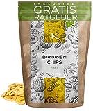 BIO Bananenchips 500g | Bananen Chips aus kontrolliert biologischem Anbau inkl. gratis Ratgeber | hochwertige frische Bananen mit Bio Kokosöl geröstet