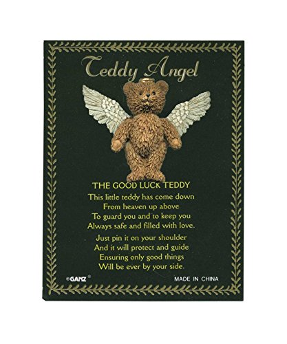 Teddy Angel Brooch - Good Luck Teddy Bear