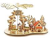 Wichtelstube-Kollektion Weihnachtspyramide Teelichtpyramide mit Räucherhaus Ski Pyramide Weihnachten