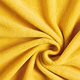 Fabulous Fabrics Fleece curry, Uni, 150 cm breit –