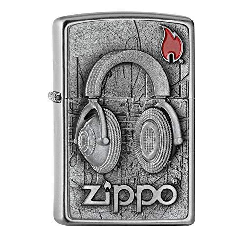 Zippo Feuerzeug, Messing, Chrom, 5.5 x 3.5 x 1 cm