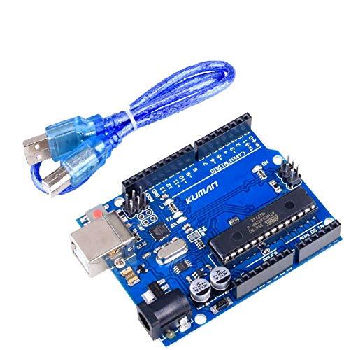 Kuman UNO R3開発ボード ATmega328P USBケーブル付属 Mega 2560 Nano Robot Arduinoと互換 Arduino IDE AVR MCU Learner K53