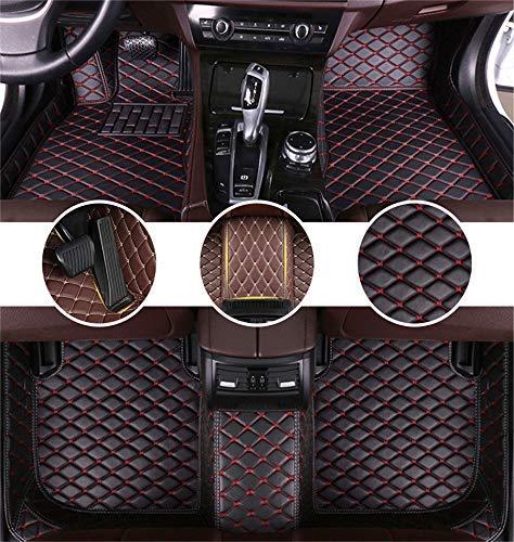 Tappetini Abitacolo per Mercedes Benz C-Class 2door 2012-2013 Tappetini AutOPELle Impermeabile Tappetino Interno Accessori Nero&Rosso
