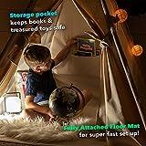 Canicove Tipi Zelt Für Kinder - Faltbares Indoor & Outdoor Set Baumwolle Naturfarben mit Massivholzpfosten & Jux Flaggen für 2 Jungen & Mädchen (Naturfarben) Segeltuch Wigwam - 5