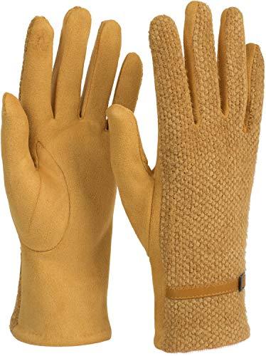 styleBREAKER Dames Touchscreen Handschoenen met honingraatpatroon en fleece voering, warme Thermo Finger Handschoenen, Winter 09010026