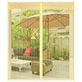 ZXL Anti Mosquito Bug Insect Fly Window Screen Mesh Net Cortina, Adecuado para múltiples Ventanas, Premium Pet Screen, Amarillo, 150x180cm (59x71inch)