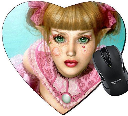 MSD Mousepad 25512293 - Alfombrilla para ratón con diseño de corazón y...