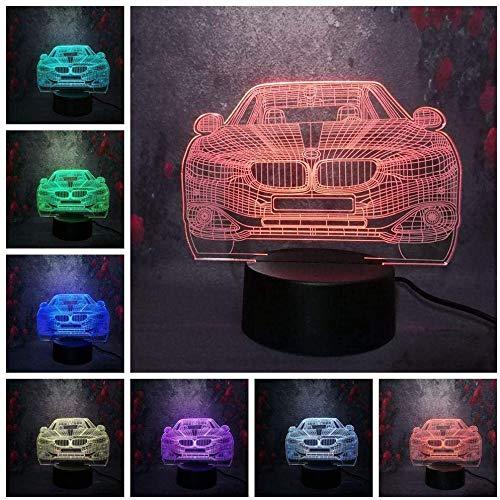 ADIS Lámpara de ilusión 3D Luz de Noche LED Coche de Lujo de Noche 7 Colores cambiantes Luminaria Lava Lamapra Decoración Visual Dormitorio Niñas Niños Juguete Navidad Nuevo