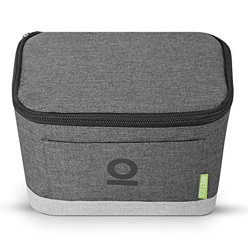 PULP + Klickfix Lenkertasche 5 L mit Isolierfuntion hält warm und kalt aus recyceltem Material Wasserabweisende Fahrradtasche vorne Lenkerkorb Fronttasche