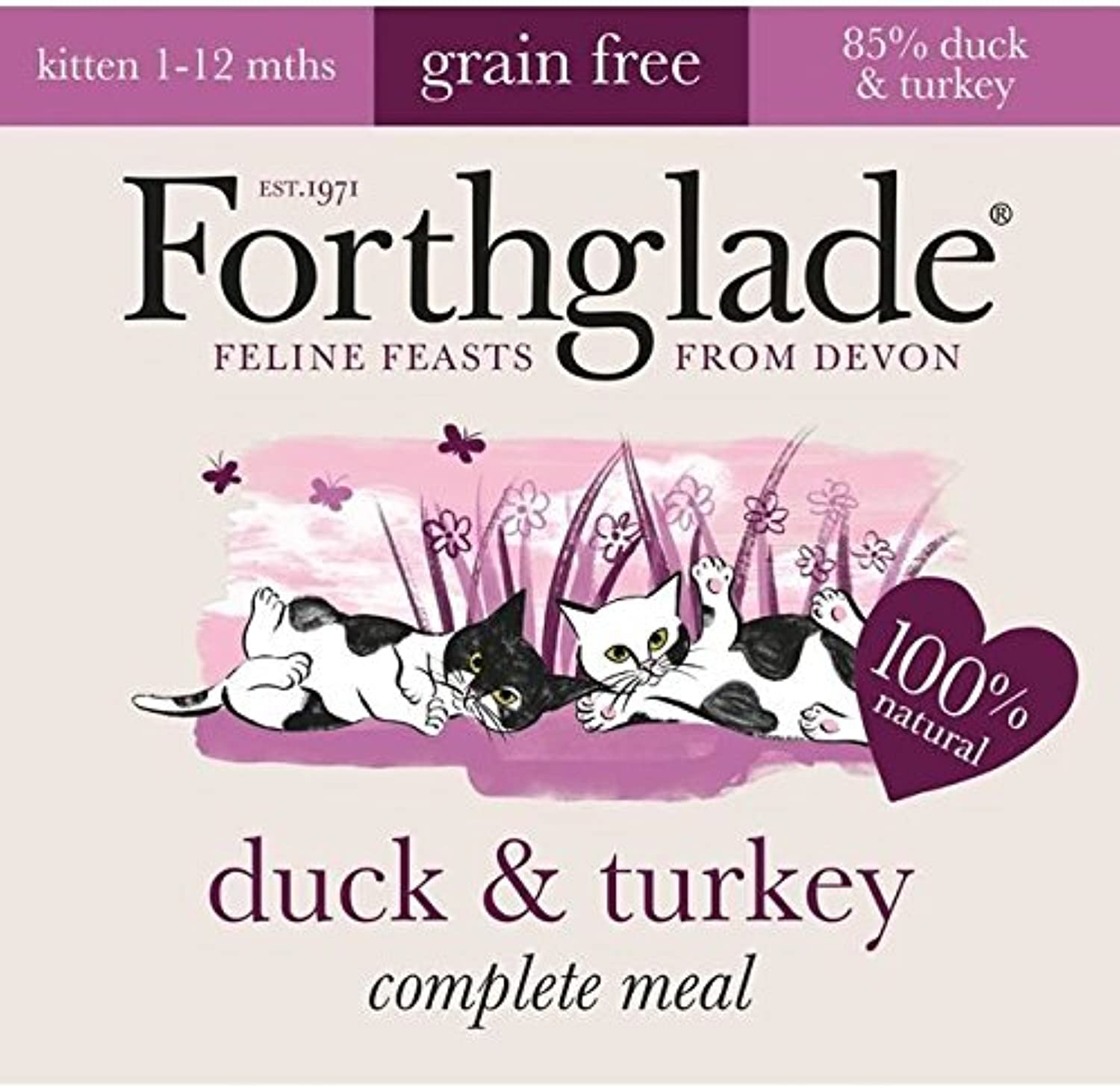 Forthglade Natural Lifestage Kitten Duck & Turkey 12 x 90g (PACK OF 4)