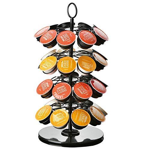 HRRH Rack de cápsulas de árbol de Navidad, Soporte Giratorio de Torre de cápsulas Rack de Soporte para cápsulas de café práctico para Nespresso/Dolce Gusto/K-Cup/Caffitaly Coffee Capsules