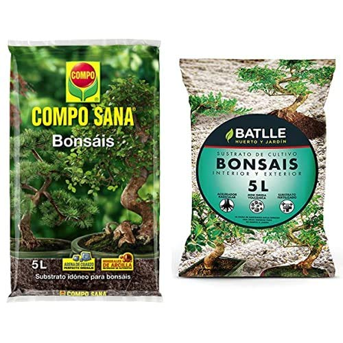Compo Sana Bonsáis con 8 semanas de abono, de Interior y Exterior, Substrato de Cultivo, 5 L, 37x23x5.5 cm + Semillas Batlle Sustratos Sustrato Bonsais 5l
