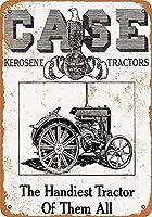 Case Kerosene Tractors 金属板ブリキ看板警告サイン注意サイン表示パネル情報サイン金属安全サイン