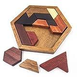 7°MR Puzzle Alloy Brain Teaser IQ Prueba madera divertida geométrica forma inusual tabla de madera muchacho niño la educación infantil