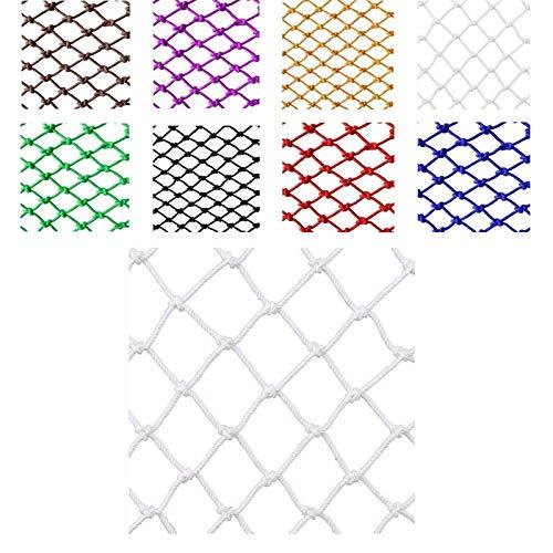 Red de Cuerda Decorativa para Interior o Exterior, Red de Seguridad for Niños Decoración Red Exterior Balcón Protección Neta Hamaca Columpio (Color: Azul, Blanco) (tamaño: Cuerda de 5 Mm Agujero de 5