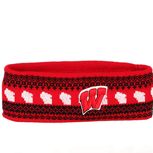 NCAA Zephyr Wisconsin Badgers Womens Carousel Knit Headband, One Size Fits Most, Team Color