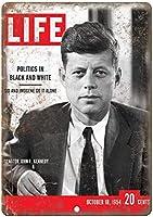 1954ライフマガジン上院議員ジョンF.ケネディバー、書斎、リビングルーム、ダイニングルーム、寝室、カフェのレトロな錫金属看板
