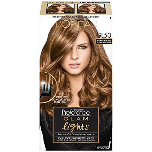 L'Oreal Paris Superior Preference Brush On Glam Highlights, GL50 Medium Brown to Dark (Packaging May Vary)