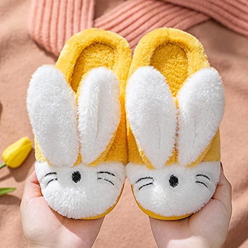 Zapatillas De Estar En Casa Hombre Divertidas,Zapatillas para NiñOs De OtoñO E Invierno, Zapatos De AlgodóN Antideslizantes para El Hogar del Bebé, Zapatillas CáLidas De Felpa De Dibujos Animados Par