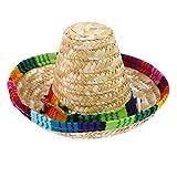 POPETPOP Sombrero per Cani Cappello da Paglia Regolabile in Stile Messicano per Cani da Cucciolo Chihuahua Gatti Protezione Solare Vestito da Festa Costume