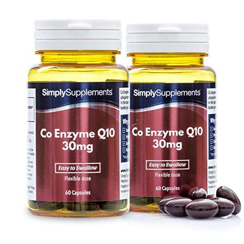 Coenzima Q10 30mg - ¡Bote para 4 meses! - 120 cápsulas - SimplySupplements