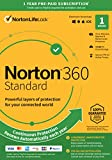 Norton 360 Standard 2021 – Antivirus Software for 1 Device with Auto Renewal – Includes VPN, PC Cloud Backup & Dark Web Monitoring Powered by LifeLock [Key Card]