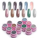 UR SUGAR 5ml Vernis Semi Permanent Couleur Vernis Gel UV Ongle Classique Nail Art Kit avec Gratis 3Pcs Liner Brush (Nue)