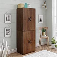 Storage cabinet with doors complements contemporary kitchen decor Spacious, ample storage for kitchen accessories and pantry items behind four doors Great for storing cookbooks, dry goods, kitchen accessories and more Mainstays Storage Cabinet comes ...
